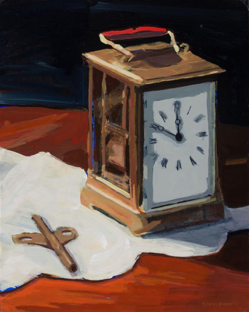 """""""Antique Clock"""" original fine art by Chris Breier"""