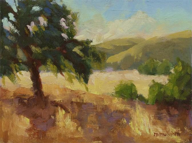 """""""Violet Shadows"""" original fine art by Mary Mulvihill"""