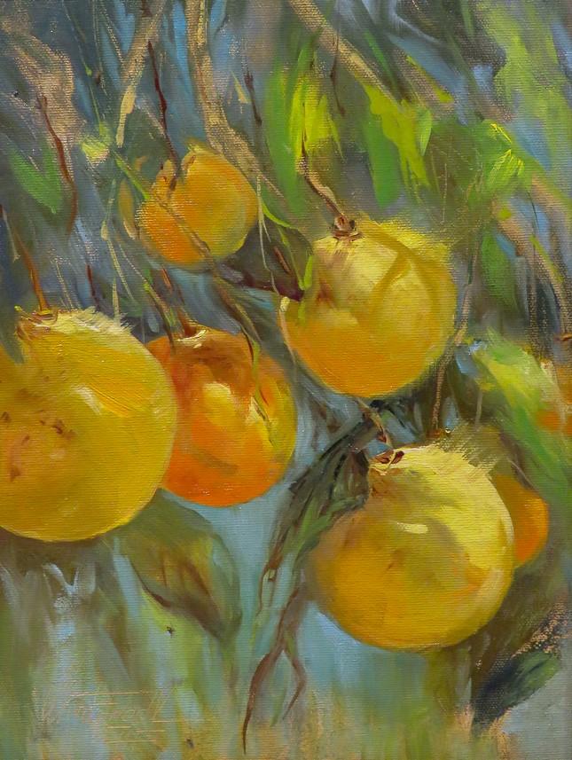 """Sunit Oranges"" original fine art by Christa Friedl"