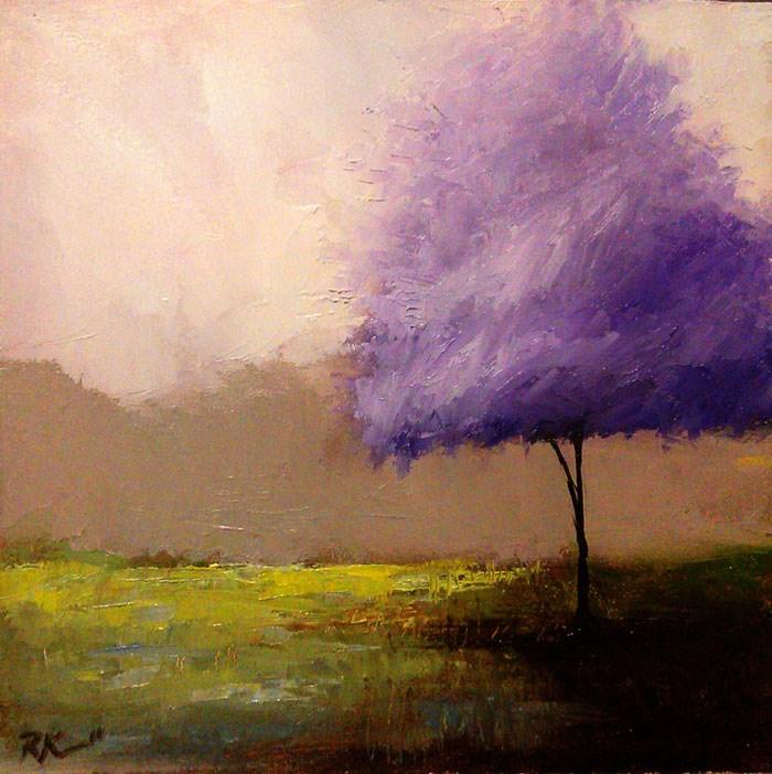 """Lavandar Tree"" original fine art by Bob Kimball"
