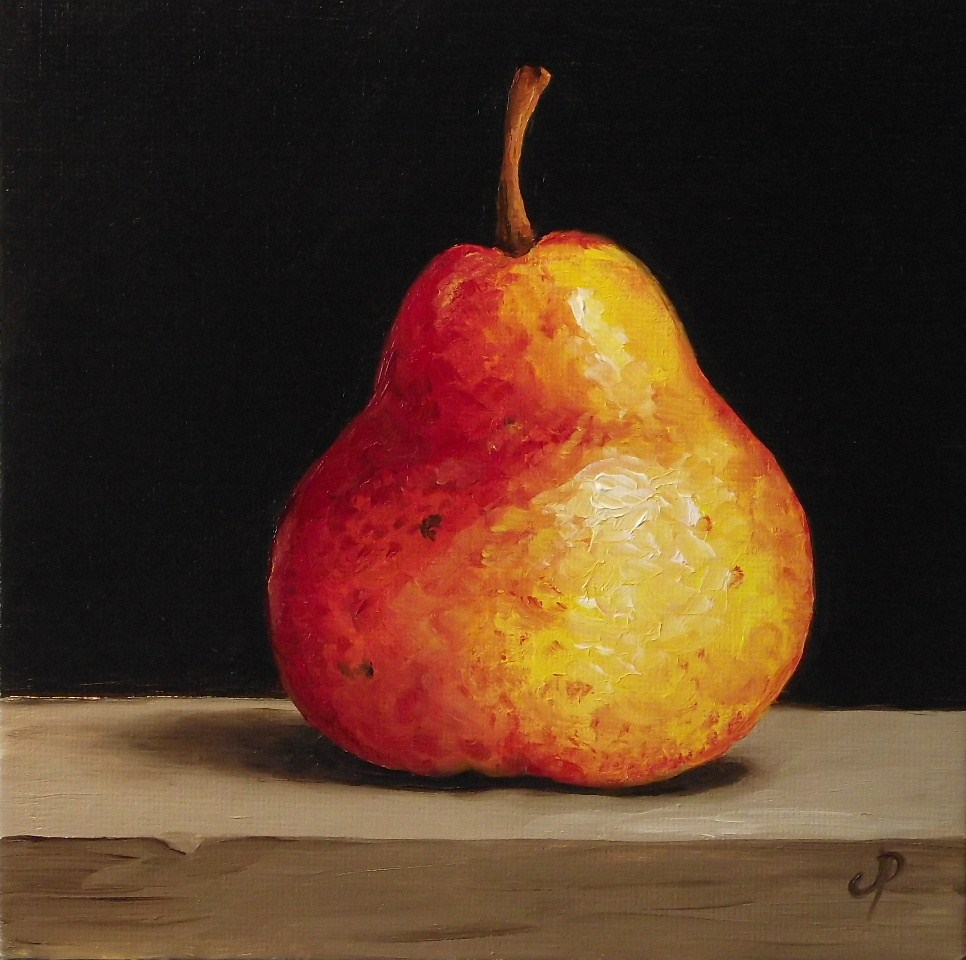 """Red Pear"" original fine art by Jane Palmer"