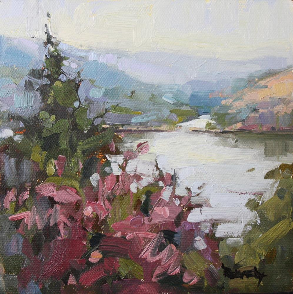 """""""Columbia River Meets The White Salmon River"""" original fine art by Cathleen Rehfeld"""