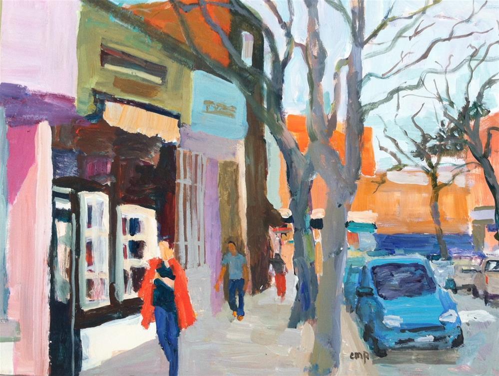 """Small town streetscape"" original fine art by Christine Parker"