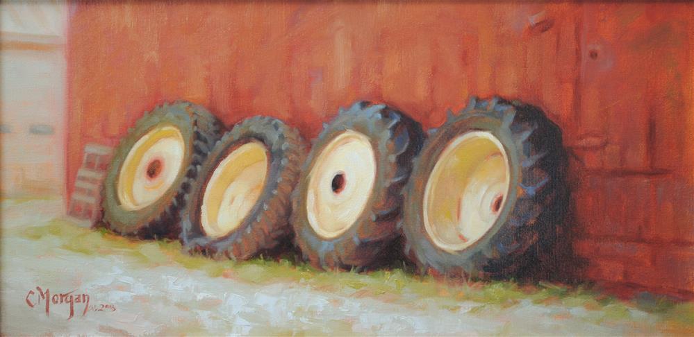 """""""Where's My Tractor?"""" original fine art by Cecile W. Morgan"""