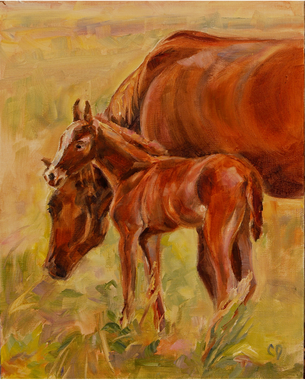 """Mama's Girl"" original fine art by Carol DeMumbrum"