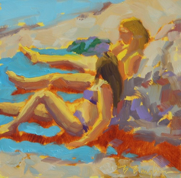 """Sun Bathers"" original fine art by Bruce Bingham"