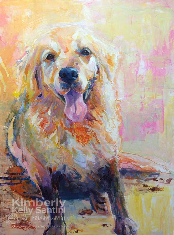 """""""What's a Little Mud?"""" original fine art by Kimberly Santini"""