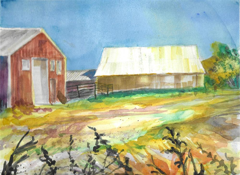 """Greenleaff Ranch"" original fine art by Jean Krueger"