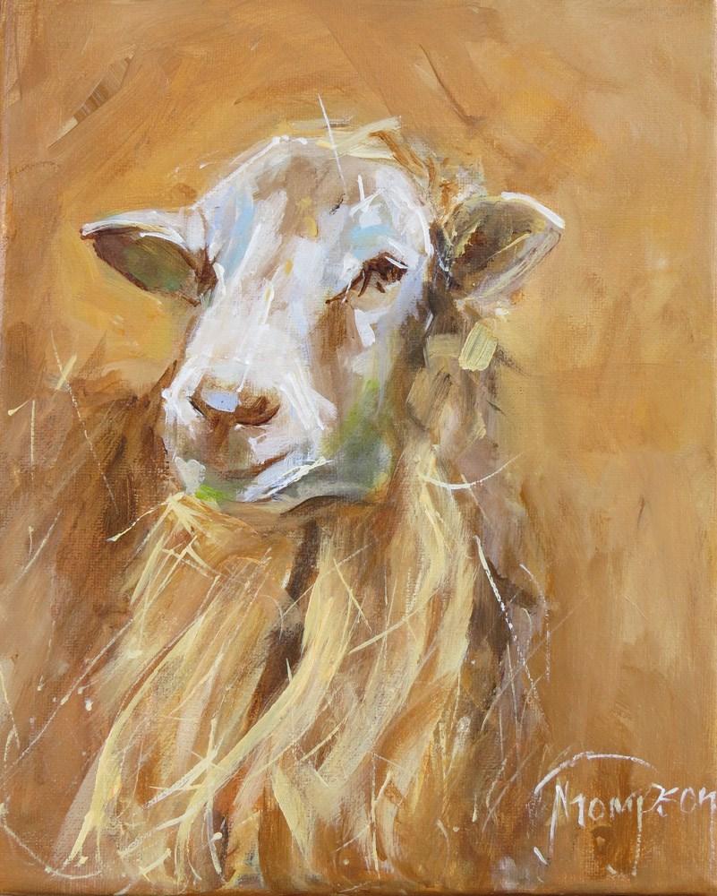 """Elegant Sheep"" original fine art by Norma Thompson"