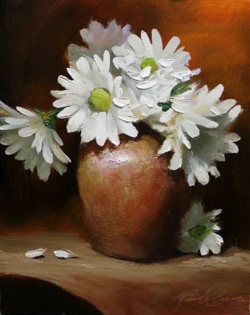 """'Gerber Daisies'"" original fine art by Justin Clements"