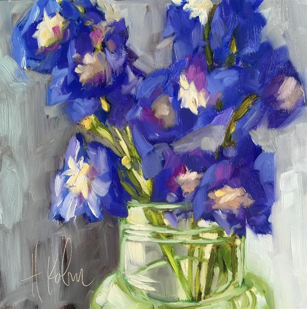 """The Bluest"" original fine art by Hallie Kohn"