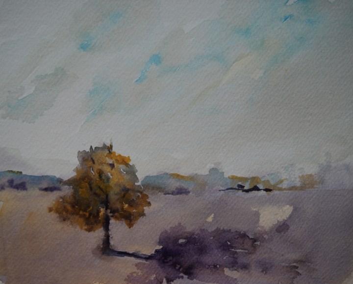 """""""Field Oak II"""" original fine art by Amy Bryce"""
