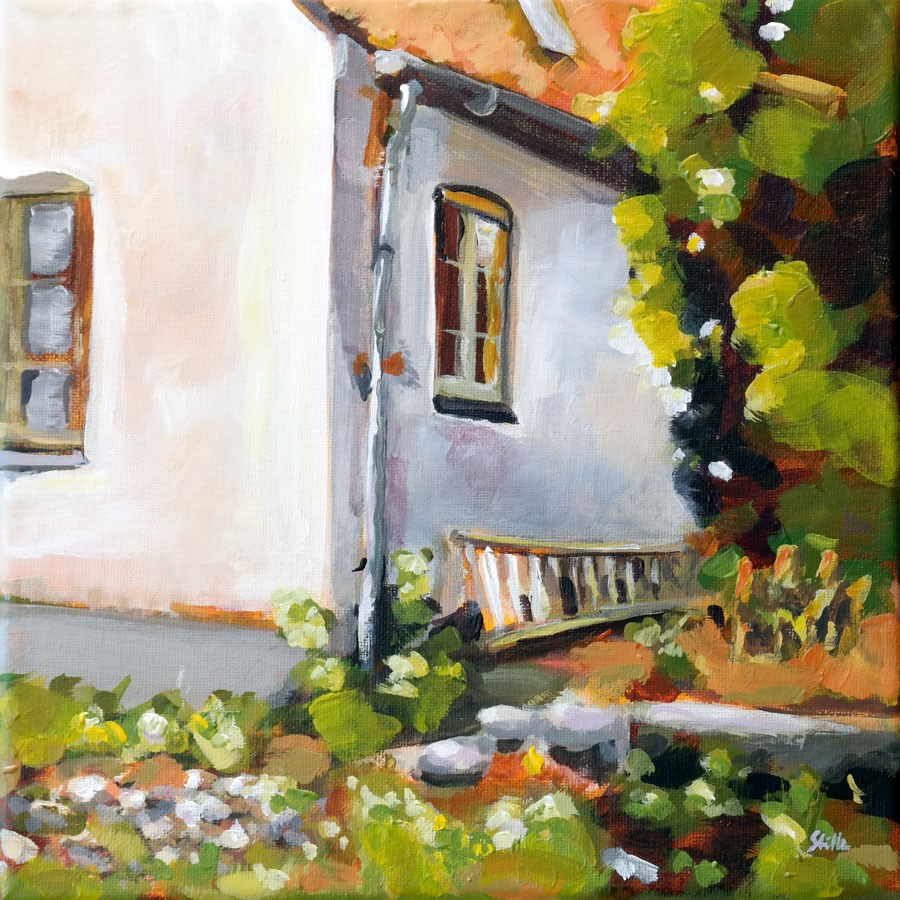 """1056 The Unrenovated House"" original fine art by Dietmar Stiller"