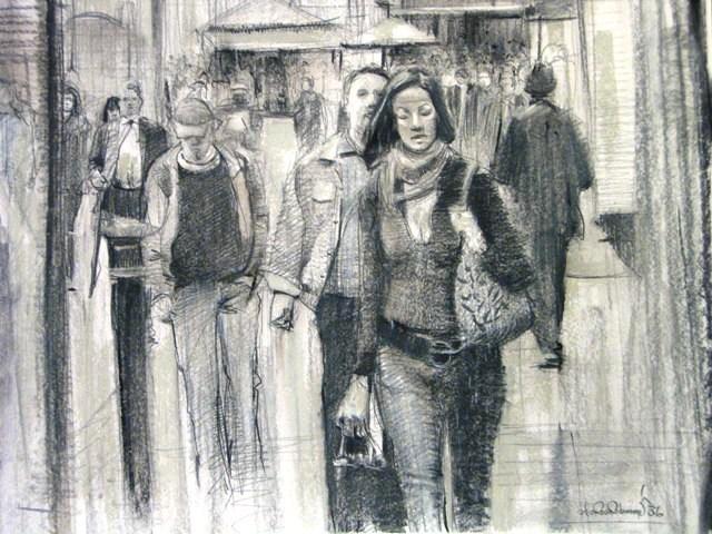 """""""Those Grey Days"""" original fine art by Adebanji Alade"""