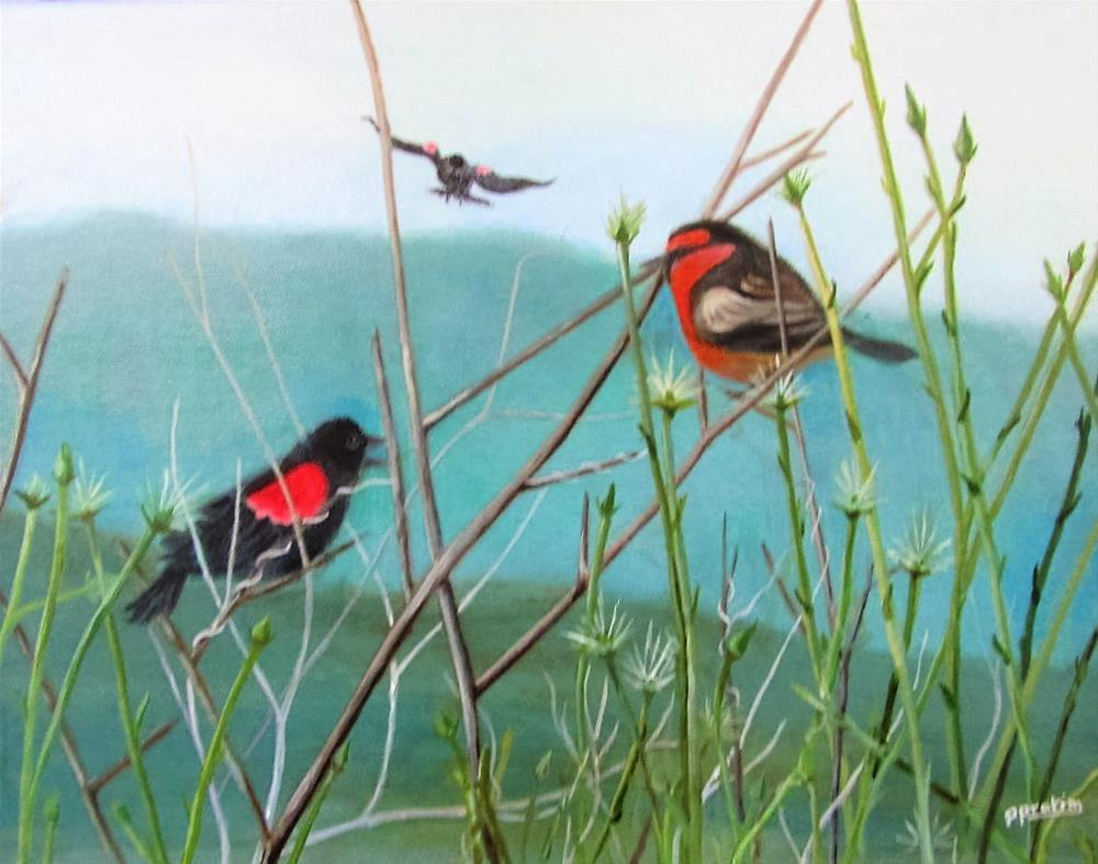 """Enchanting Spring"" original fine art by Pratima Patel"