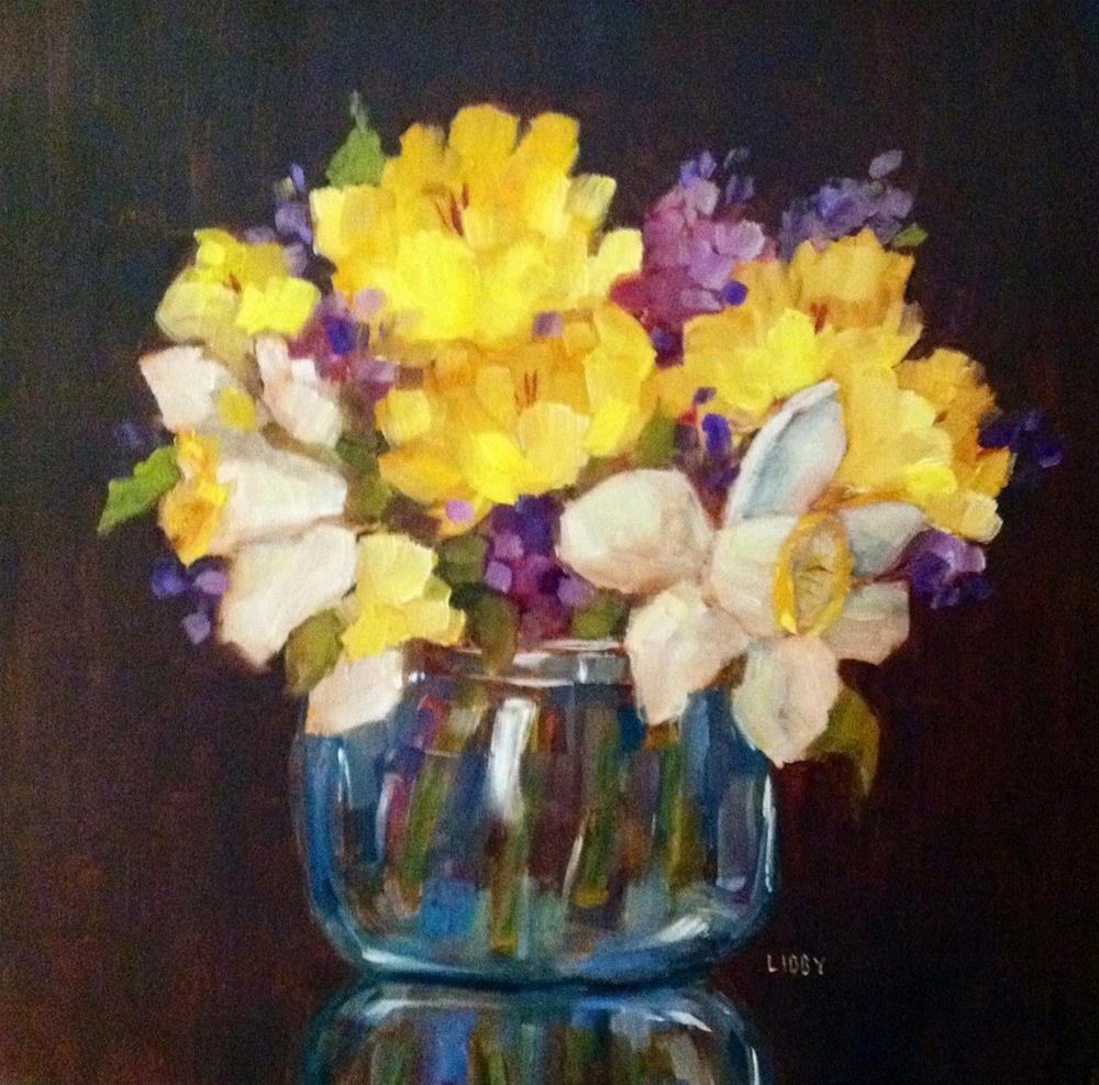 """""""Lucky Flowers"""" original fine art by Libby Anderson"""