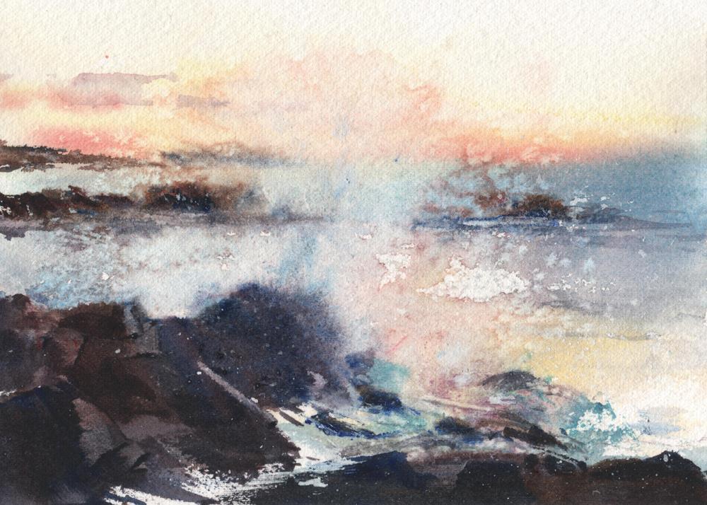 """Dawn Breakers"" original fine art by Linda Henry"