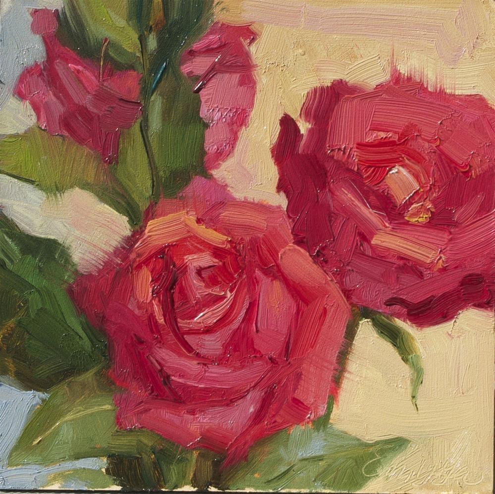 """Roses Study"" original fine art by Emiliya Lane"