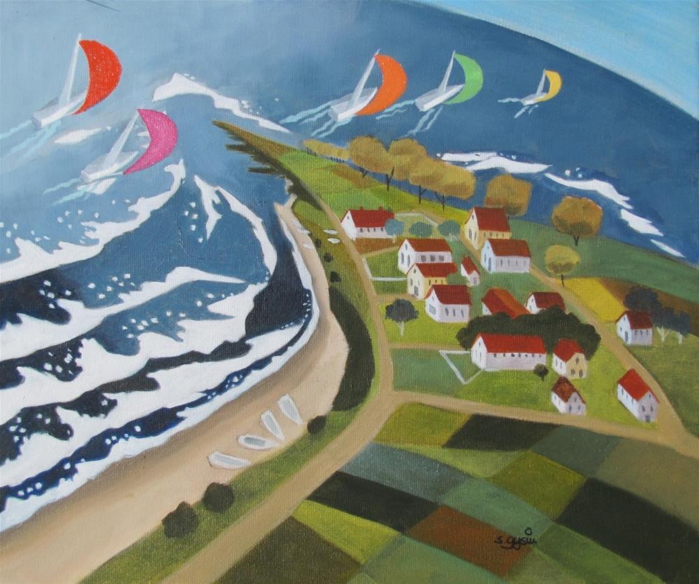 """Där Vi Seglar"" original fine art by Suzanne Gysin"