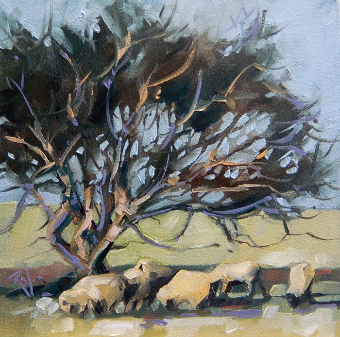 """No 642 Grazing"" original fine art by Robin J Mitchell"