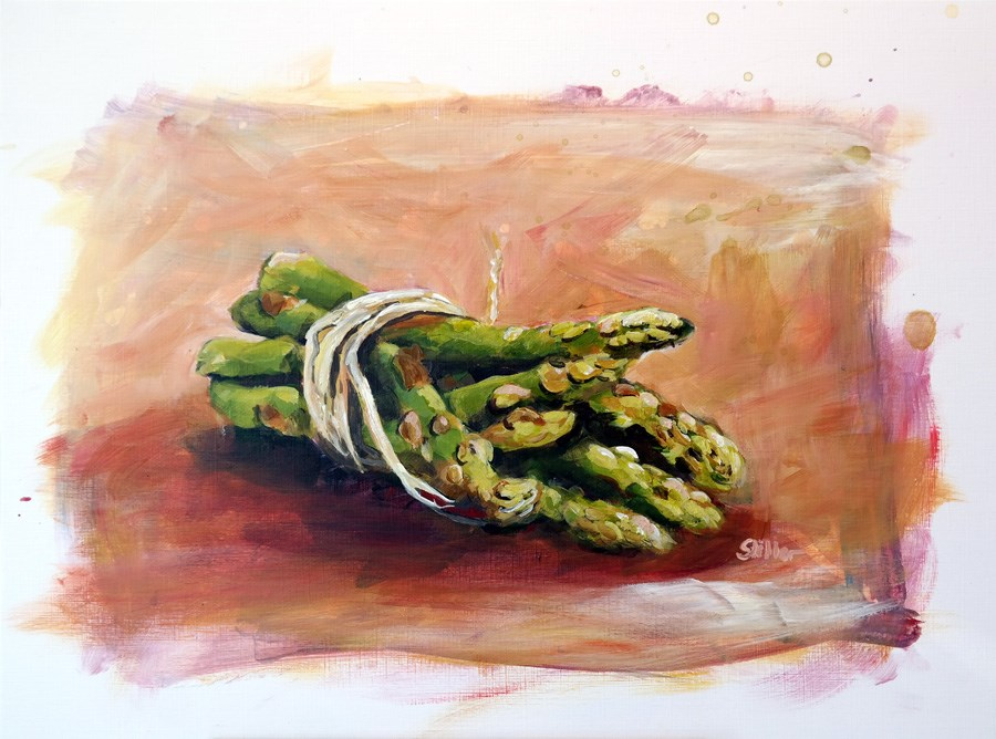 """1720 Bundle of Asparagus"" original fine art by Dietmar Stiller"