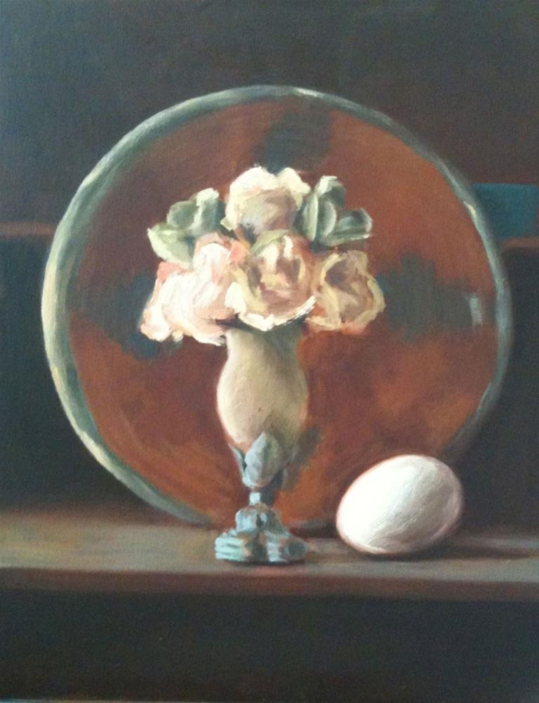 """Vase and Basket and Egg"" original fine art by Megan Schembre"