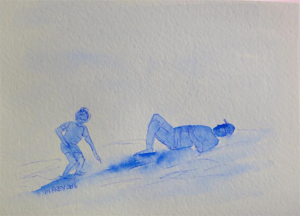 """At The Beach 095"" original fine art by Michelina Frey"