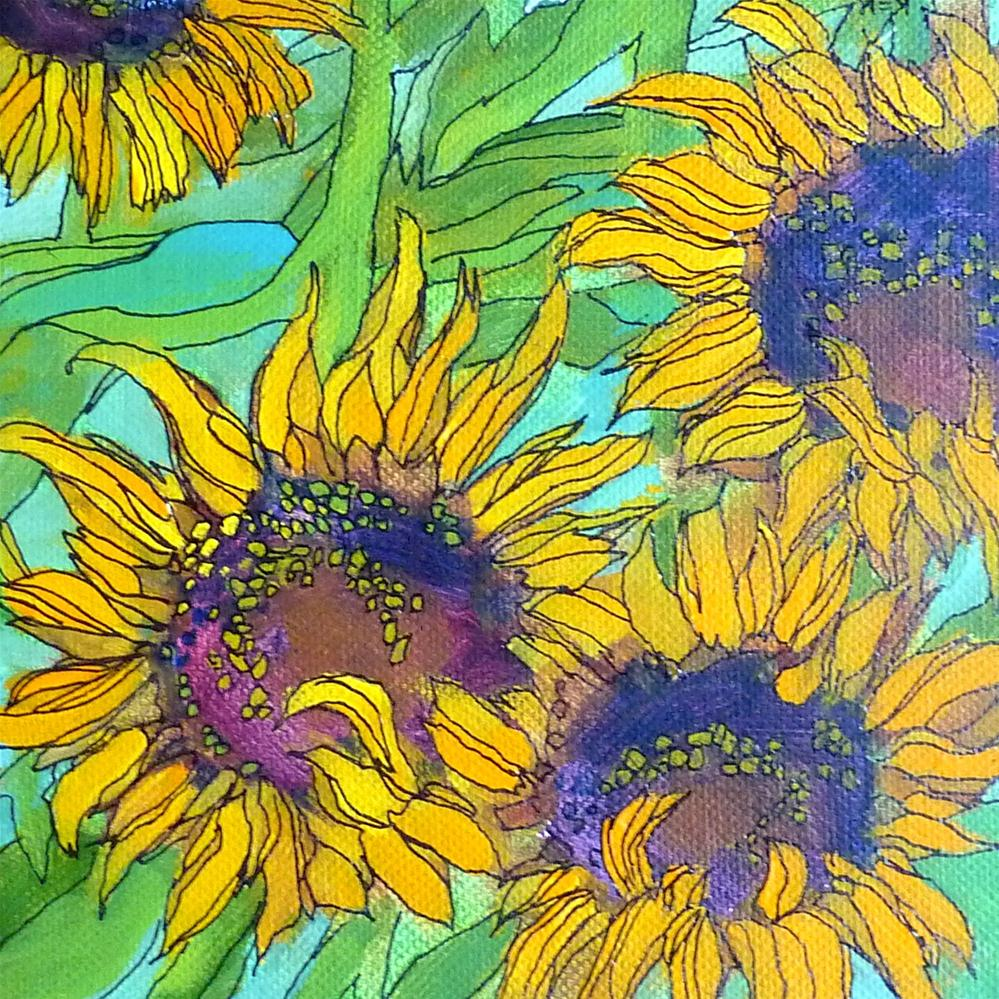 """More Sunflower Paintings!"" original fine art by Karen Margulis"