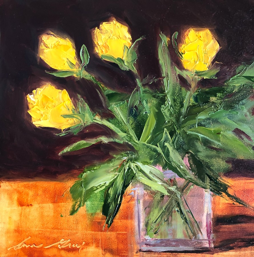 """#191 - Yellow Roses"" original fine art by Sara Gray"