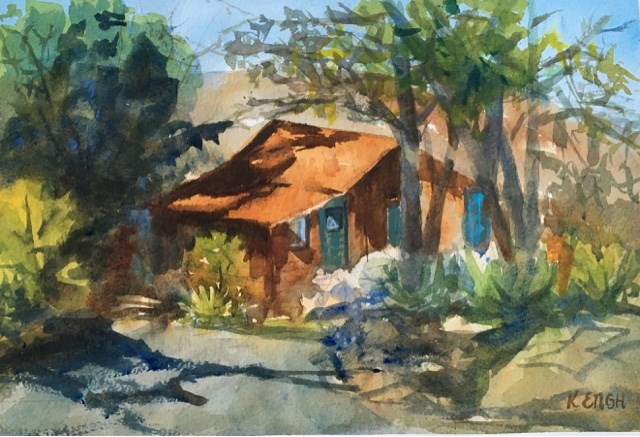 """At the Ranch"" original fine art by Katharine Engh"