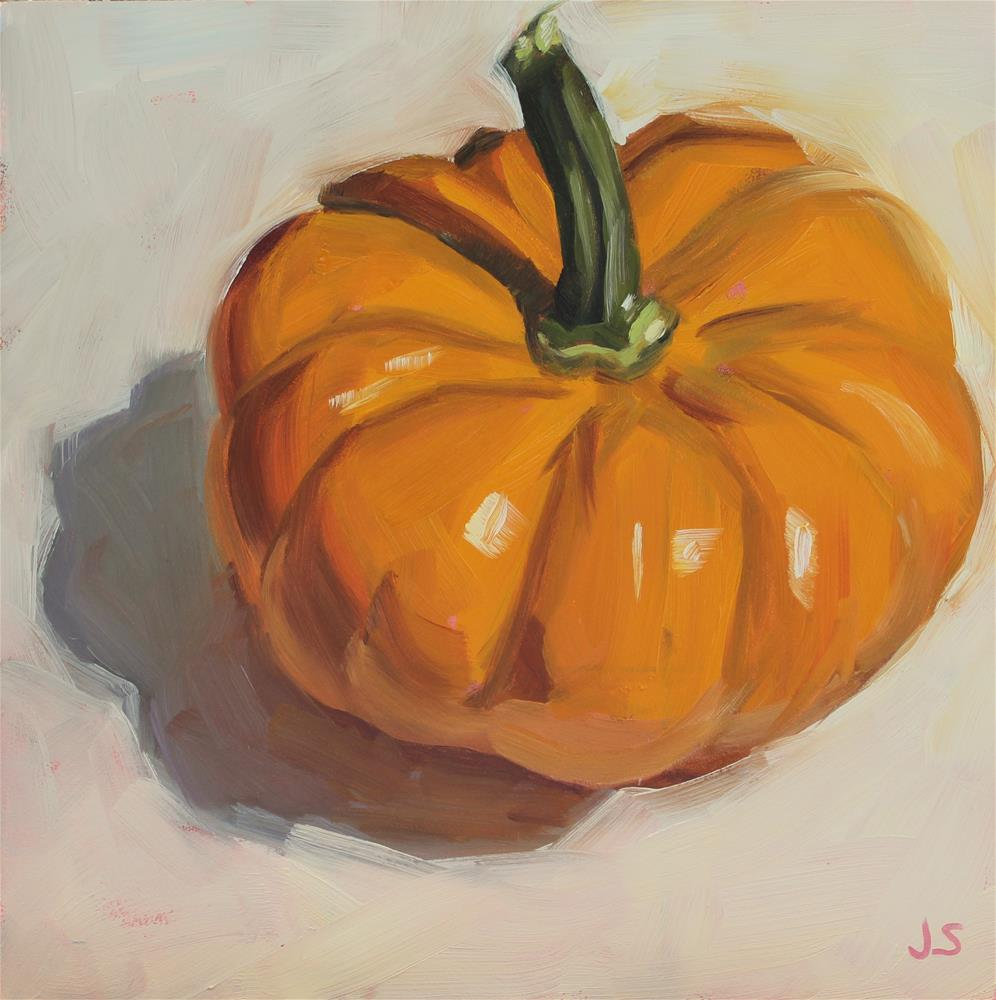 """Funny Little Pumpkin"" original fine art by Jamie Stevens"