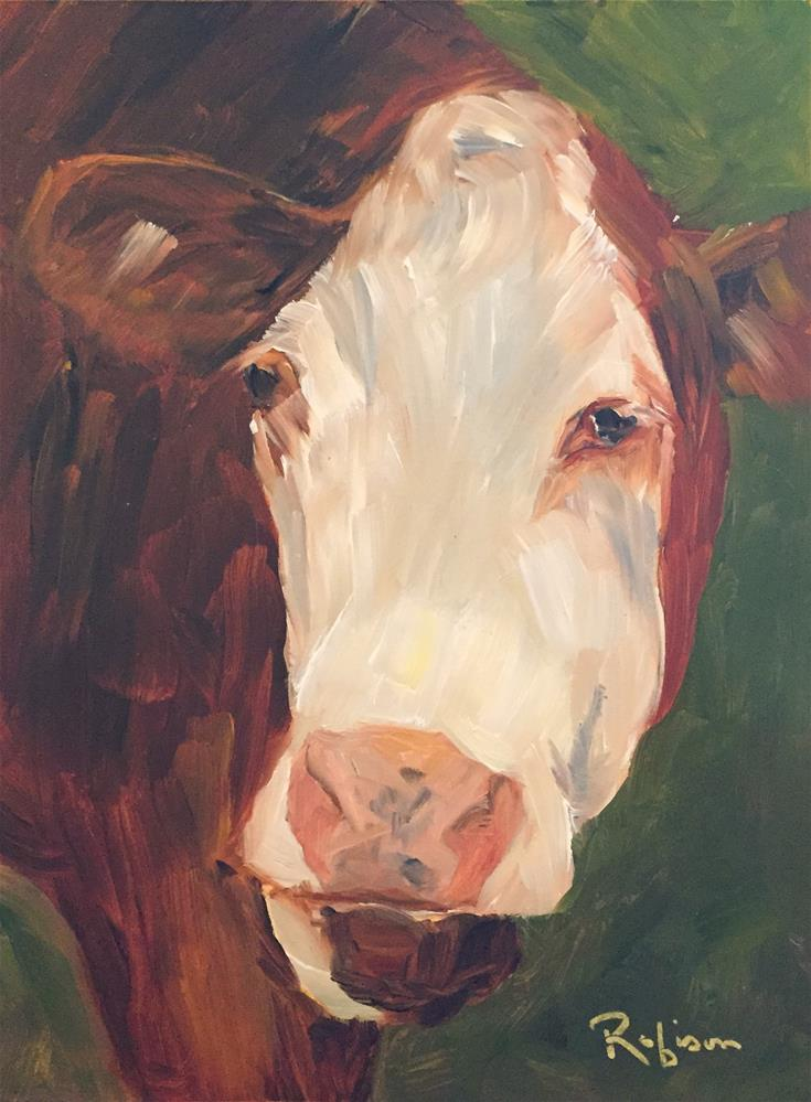 """""""Can You Say Moo?"""" original fine art by Renee Robison"""