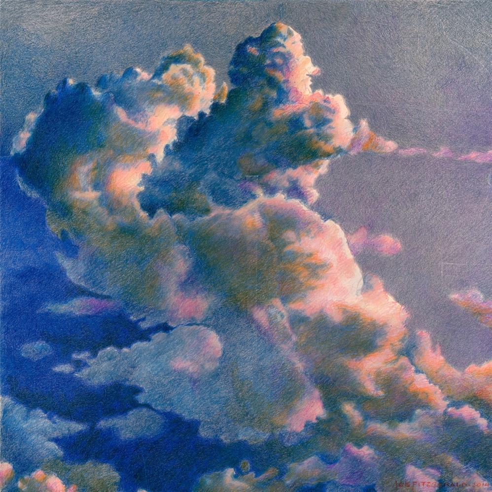 """Clouds Over Wales"" original fine art by Joe Fitzgerald"
