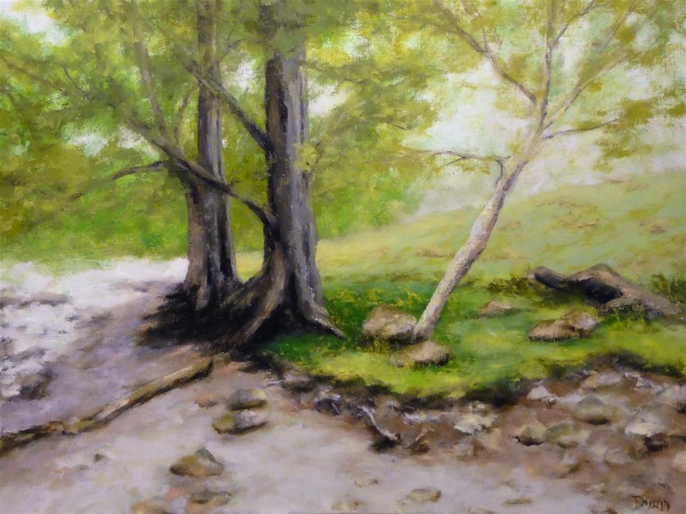 """English Oaks III"" original fine art by Dalan Wells"