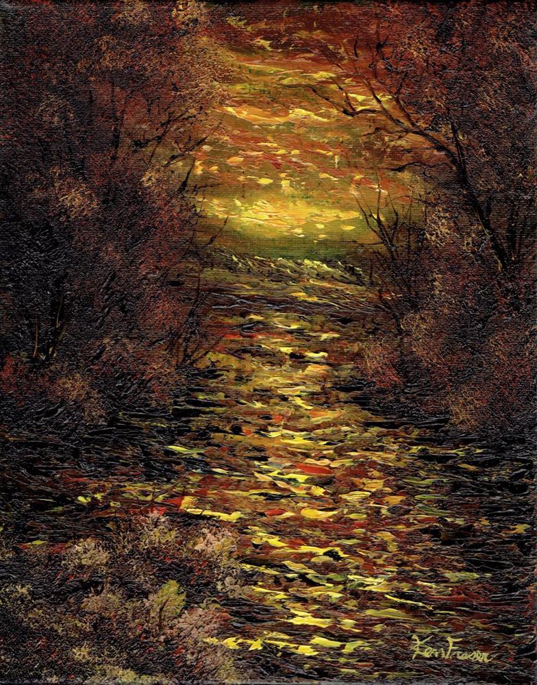 """""""Sunset Creek"""" original fine art by Ken Fraser"""