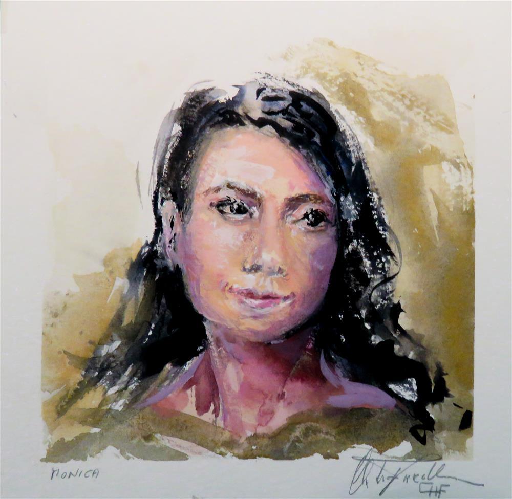 """Monica"" original fine art by Christa Friedl"