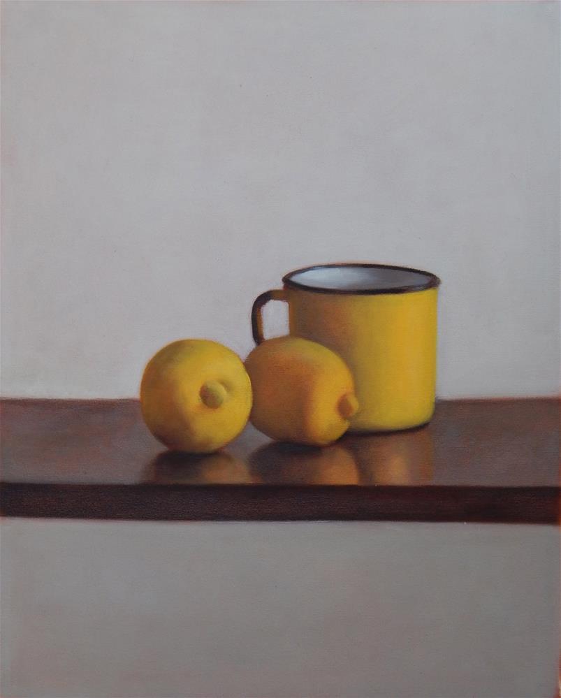 """Composition in Yellow"" original fine art by Megan Schembre"