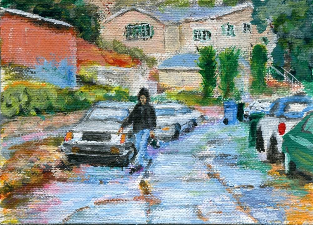"""It Never Rains in LA"" original fine art by Stanley Epperson"