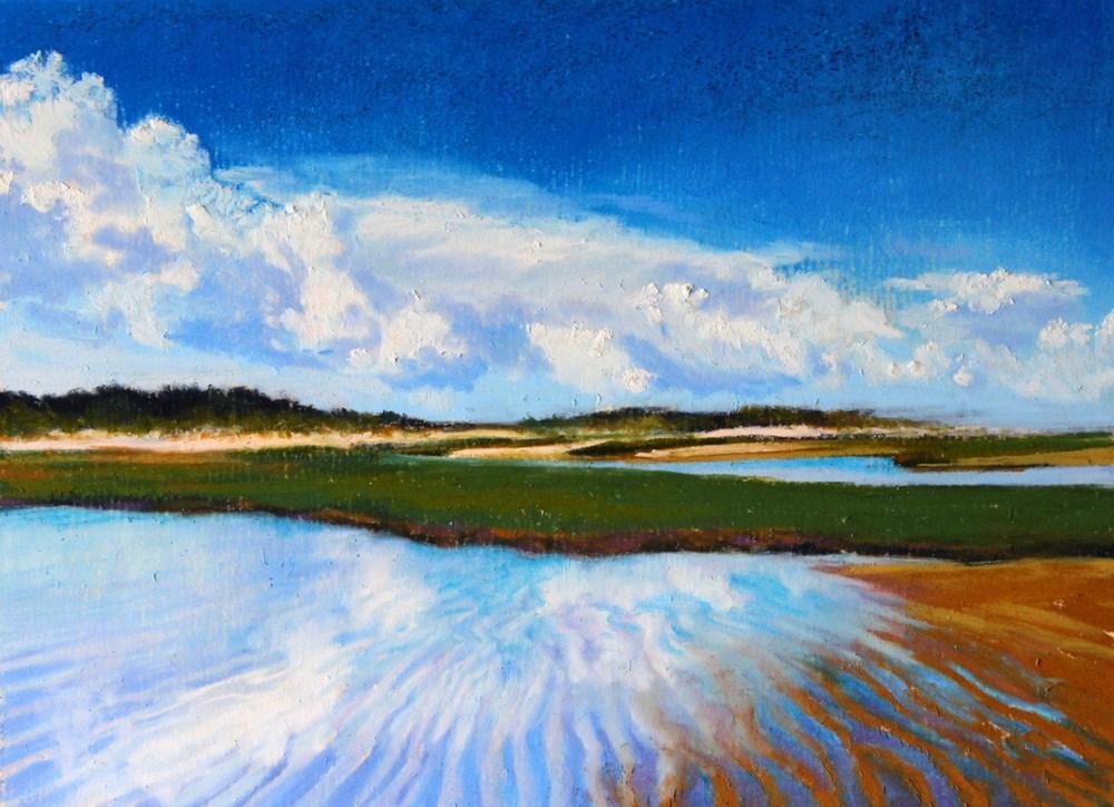 """""""Low Tide Reflections"""" original fine art by Jill Bates"""