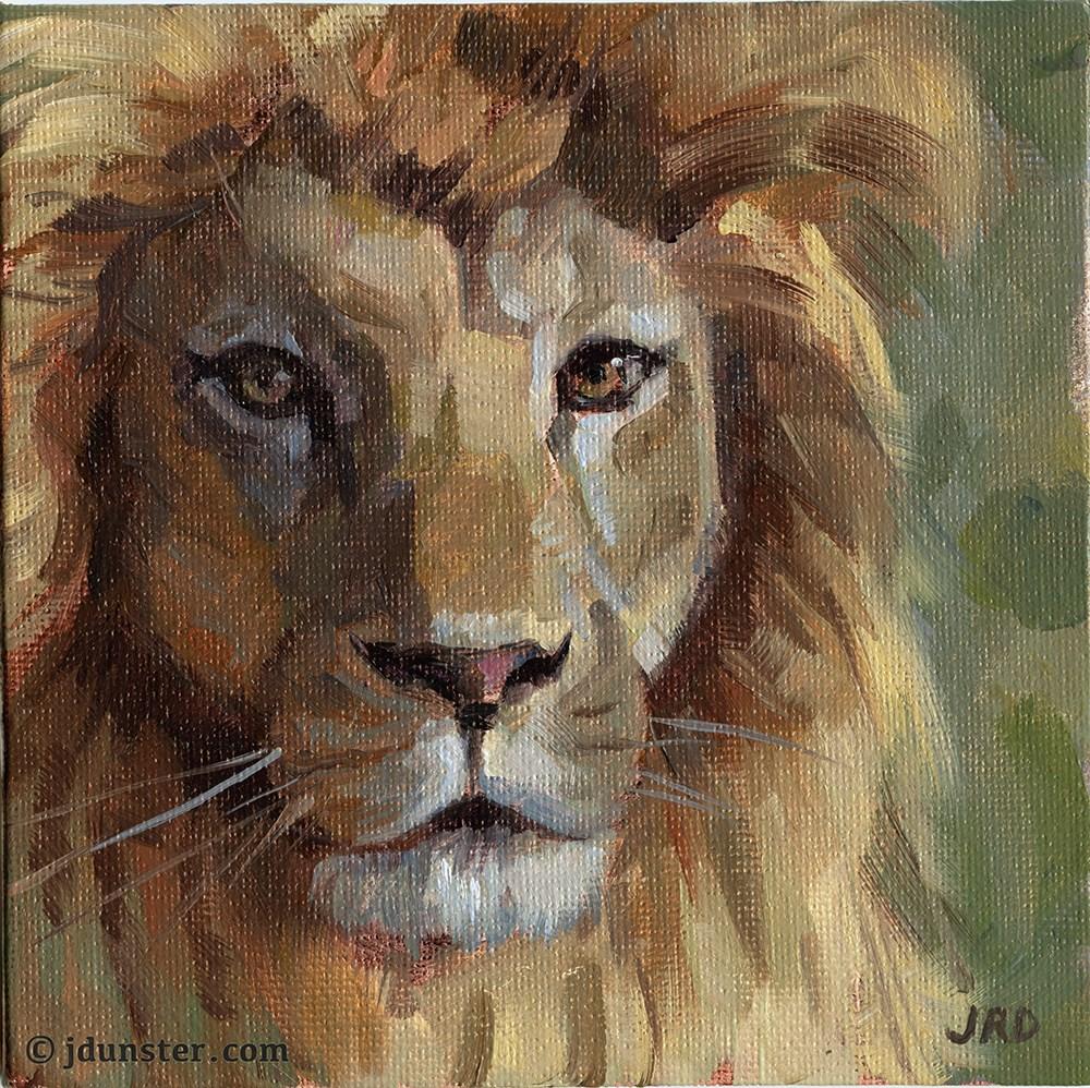 """Lion Head"" original fine art by J. Dunster"