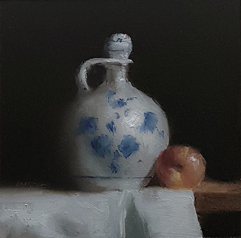 """Oil Jug with Apple"" original fine art by Neil Carroll"
