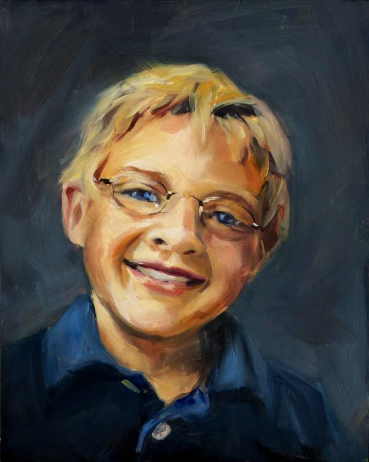 """""""Boy In Navy"""" original fine art by Deb Anderson"""