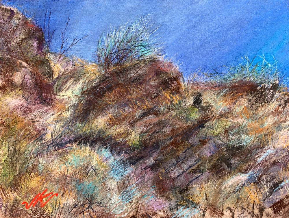 """Willlow Trail, White Tank, Mts., AZ"" original fine art by Jean Krueger"