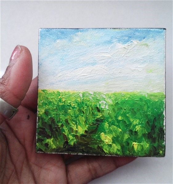 """Landscape Grass Sky"" original fine art by Camille Morgan"