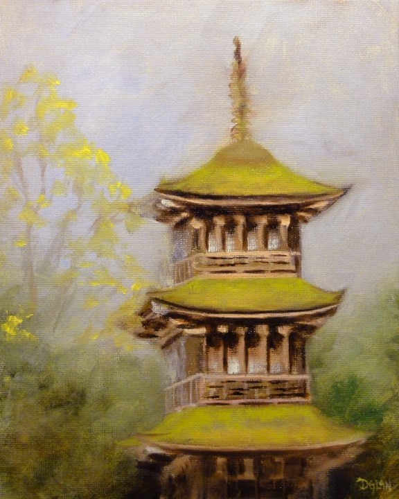 """The Jade Tower"" original fine art by Dalan Wells"
