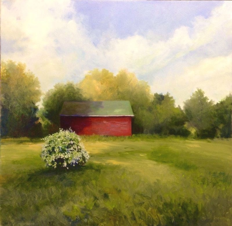 """Backyard Beauty"" original fine art by Cathy Boyd"