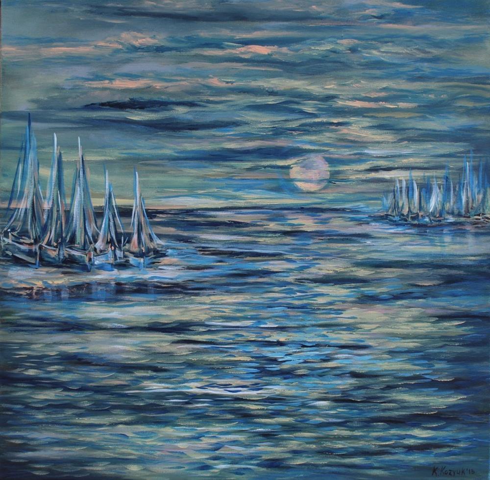 """""""Moonlight"""" original fine art by Khrystyna Kozyuk"""