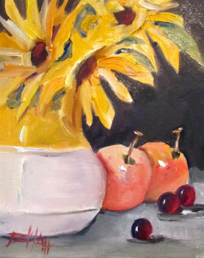 """""""Fruit and Flowers"""" original fine art by Delilah Smith"""