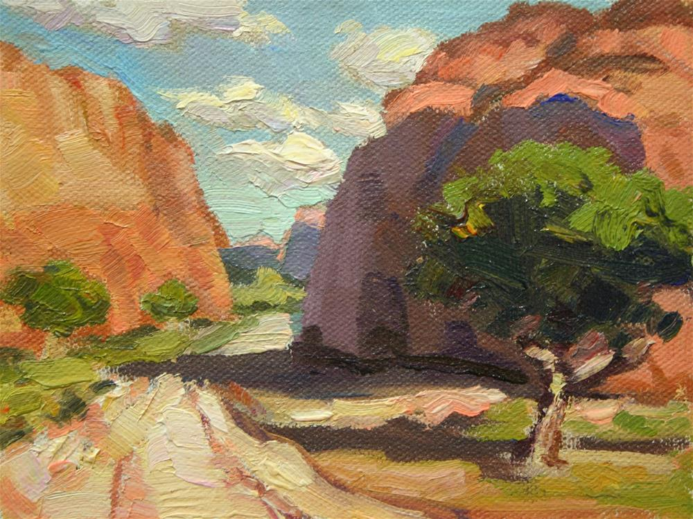 """Wandering the Canyons in Plein Air"" original fine art by K.R. McCain"