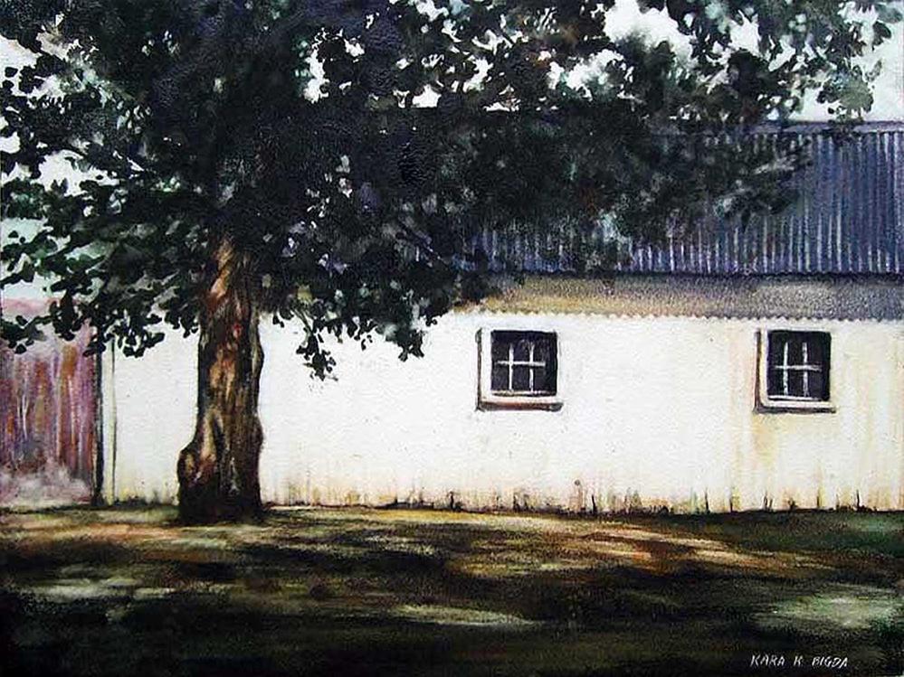 """McReavey's Barn"" original fine art by Kara K. Bigda"